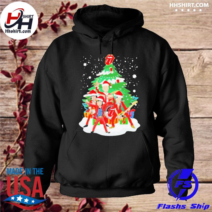 Anta the rolling stones playing music merry christmas 2020 sweater hoodie