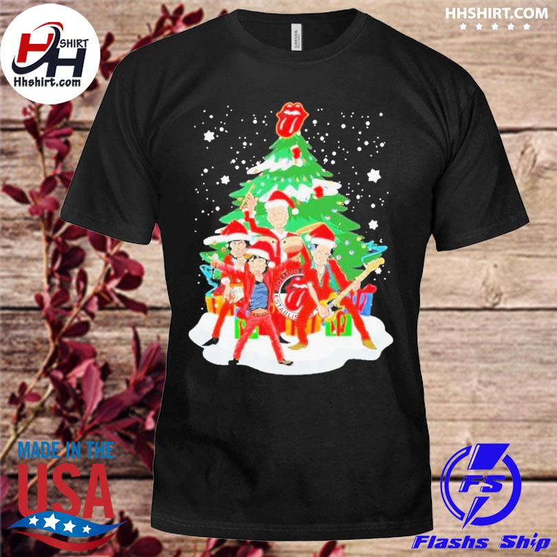 Anta the rolling stones playing music merry christmas 2020 sweater