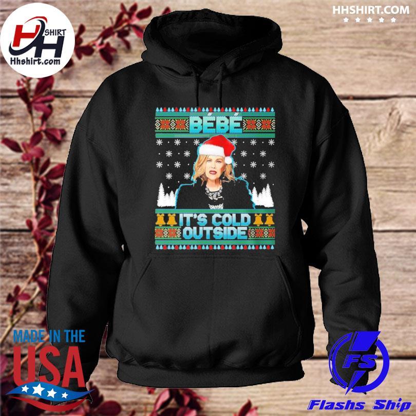 Bebe it's cold outside schitt moira creek funny christmas sweater hoodie