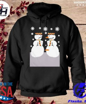 Cute snowman nose thief ugly christmas sweater hoodie