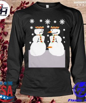 Cute snowman nose thief ugly christmas sweater longleeve
