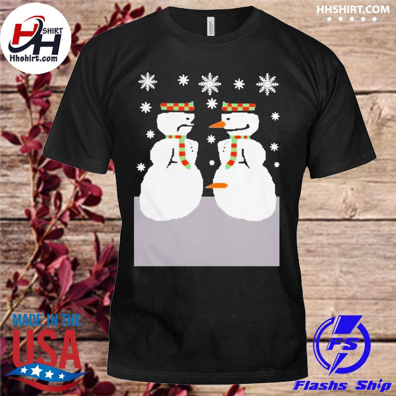 Cute snowman nose thief ugly christmas sweater