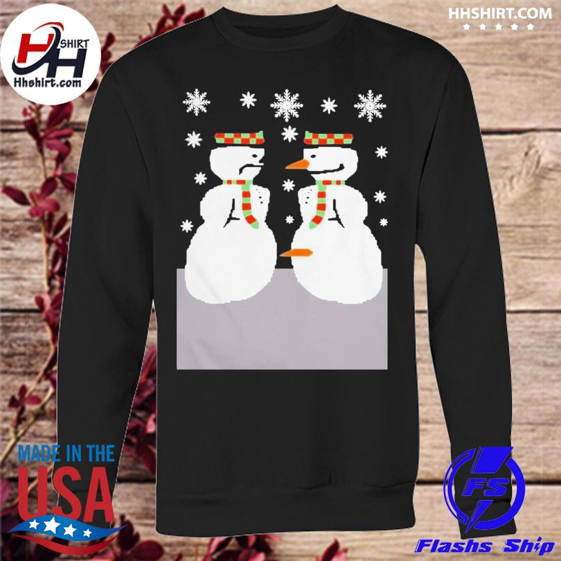 Cute snowman nose thief ugly christmas sweater sweatshirt