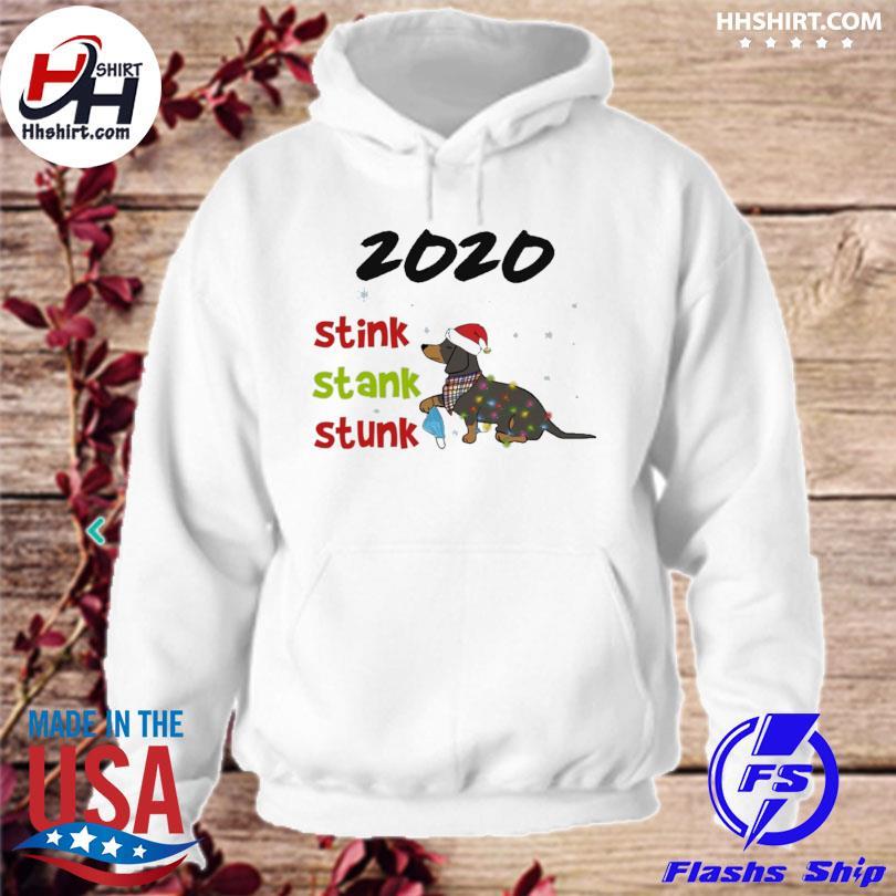 Dachshund Santa 2020 stink stank stunk Christmas sweater hoodie
