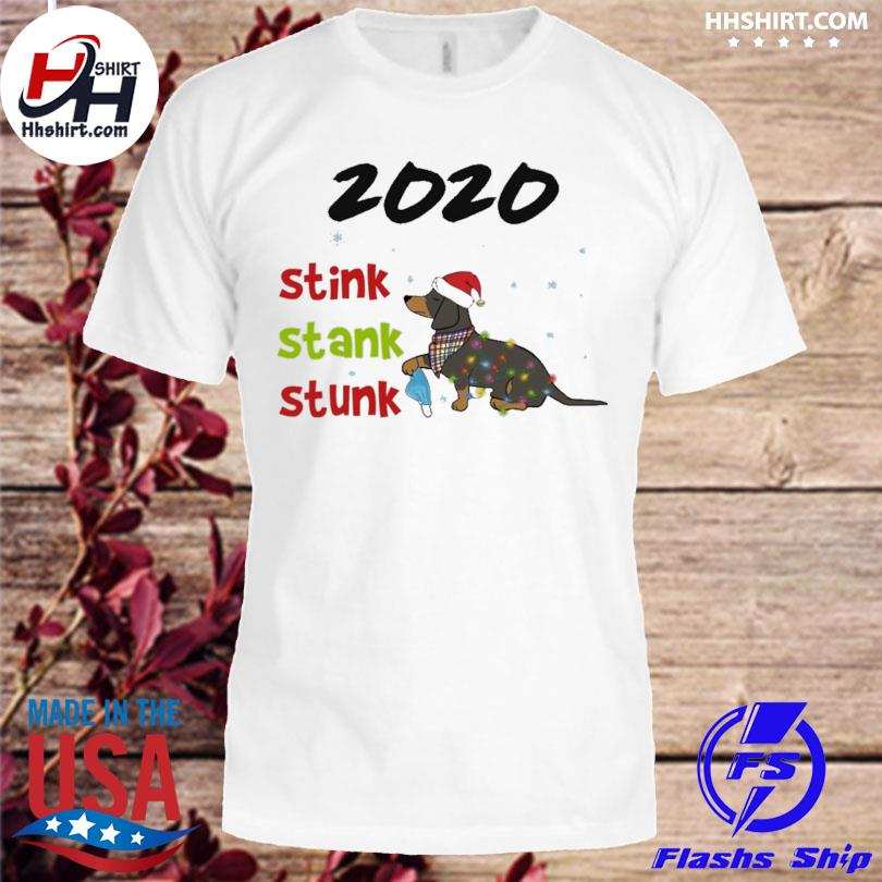 Dachshund Santa 2020 stink stank stunk Christmas sweater