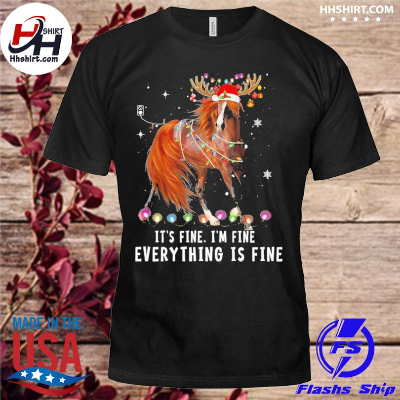 Horse Lover Christmas it's fine I'm fine everything is fine Christmas sweater