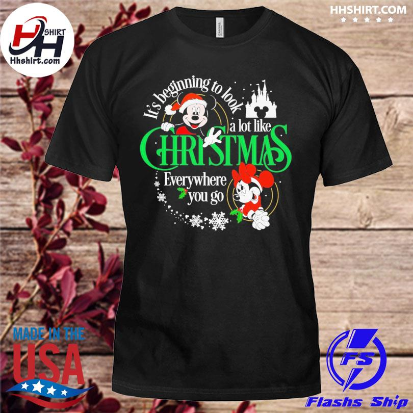 Mickey Mouse it's beginning to look a lot like Chritsmas evevrywhere you go sweater