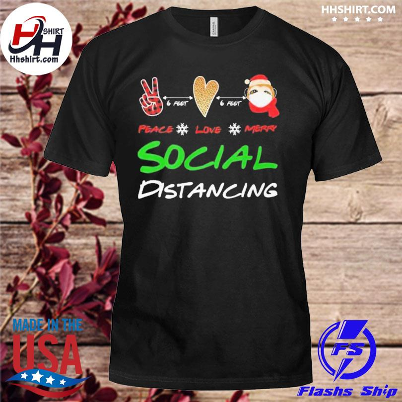 Peace love Marry Social Distancing Christmas sweater