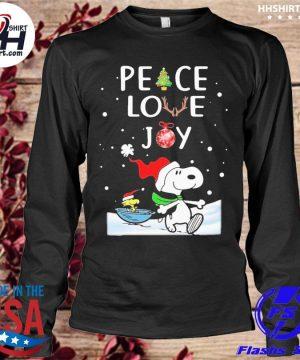 Peanuts snoopy peace love joy christmas sweater longleeve
