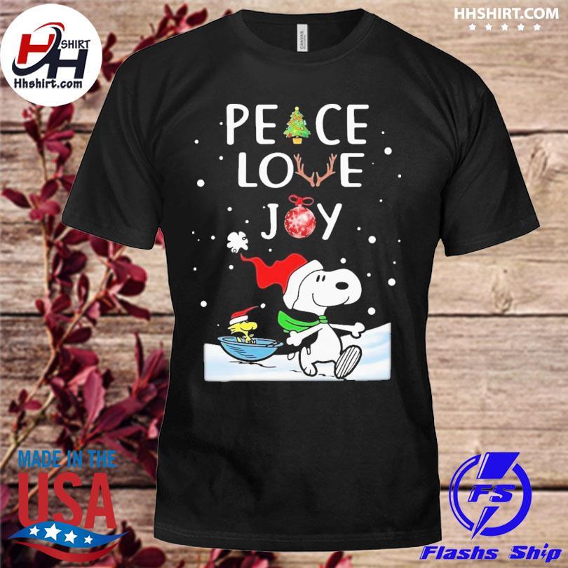 Peanuts snoopy peace love joy christmas sweater