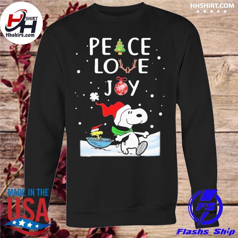 Peanuts snoopy peace love joy christmas sweater sweatshirt
