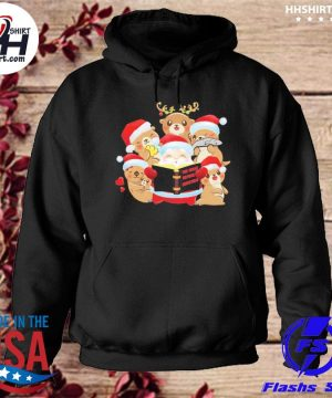 Santa Claus and Beavers the night before Christmas sweater hoodie