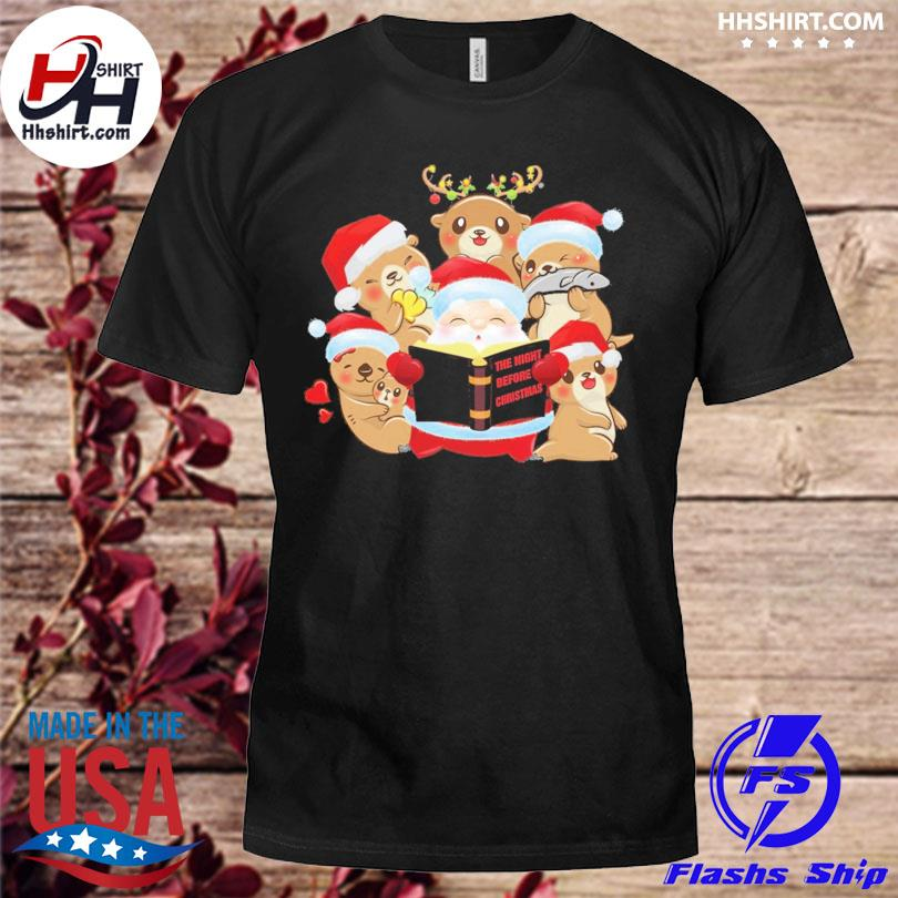 Santa Claus and Beavers the night before Christmas sweater