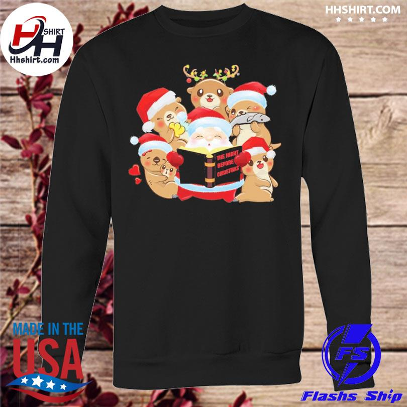Santa Claus and Beavers the night before Christmas sweater sweatshirt