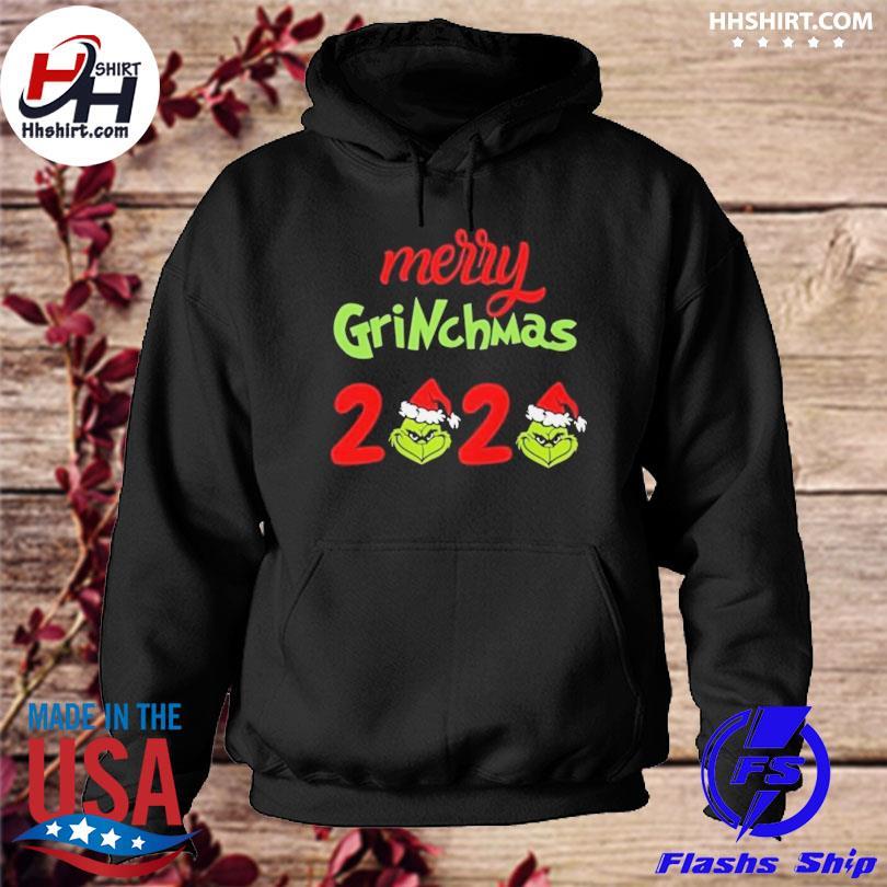 Santa Grinch Merry 2020 Christmas sweater hoodie
