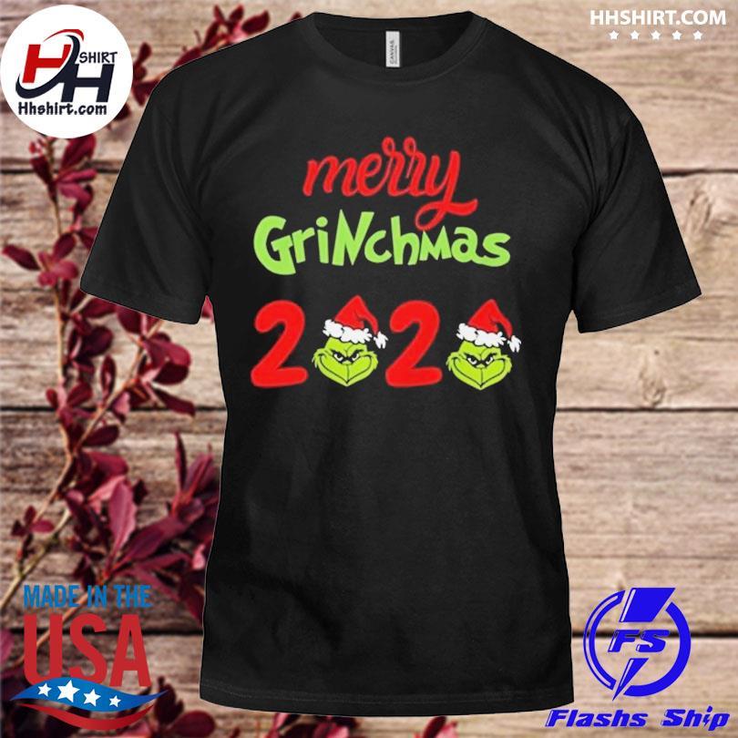 Santa Grinch Merry 2020 Christmas sweater