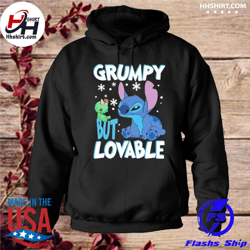 Stitch Grumpy but lovable Christmas sweater hoodie