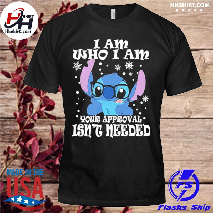 Stitch I am who I am your approval isn't needed Christmas sweater