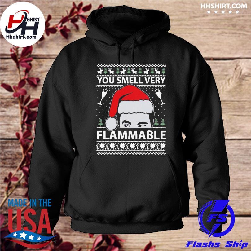 You smell very flammable schitt's creek ugly christmas sweats hoodie