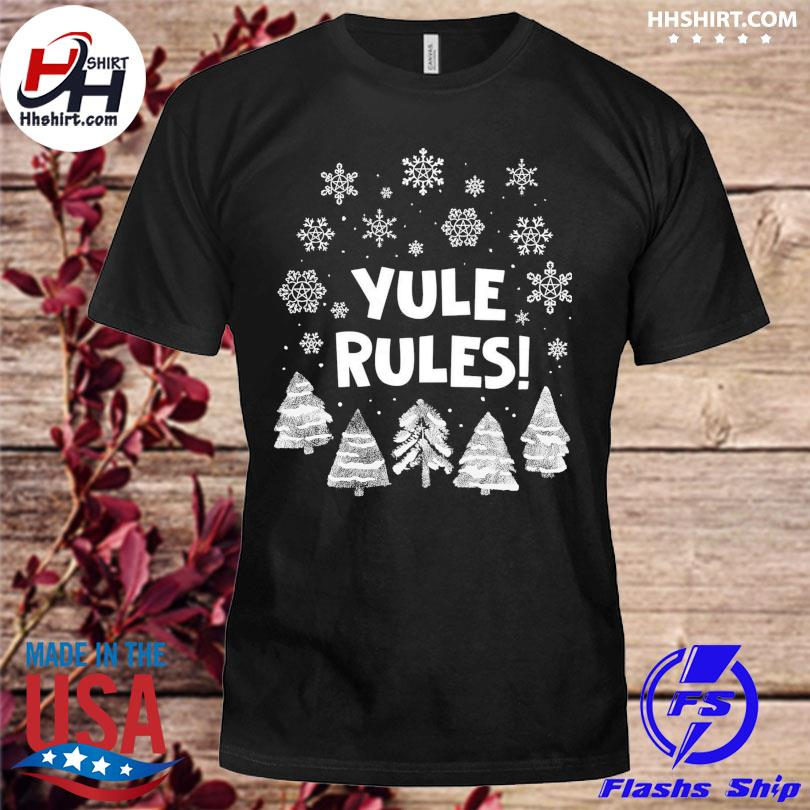 Yule Rules Snow Flower Christmas sweater