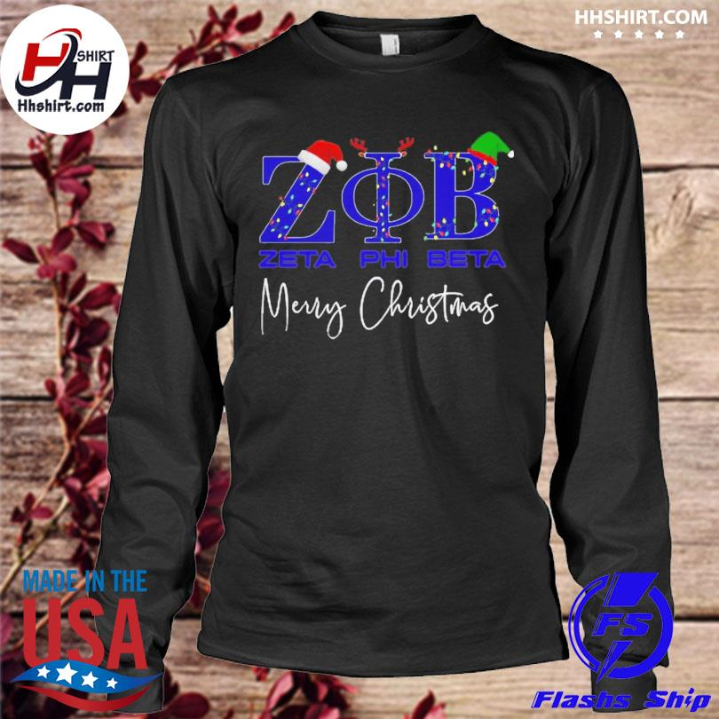 Zeta phi beta merry christmas sweater longleeve