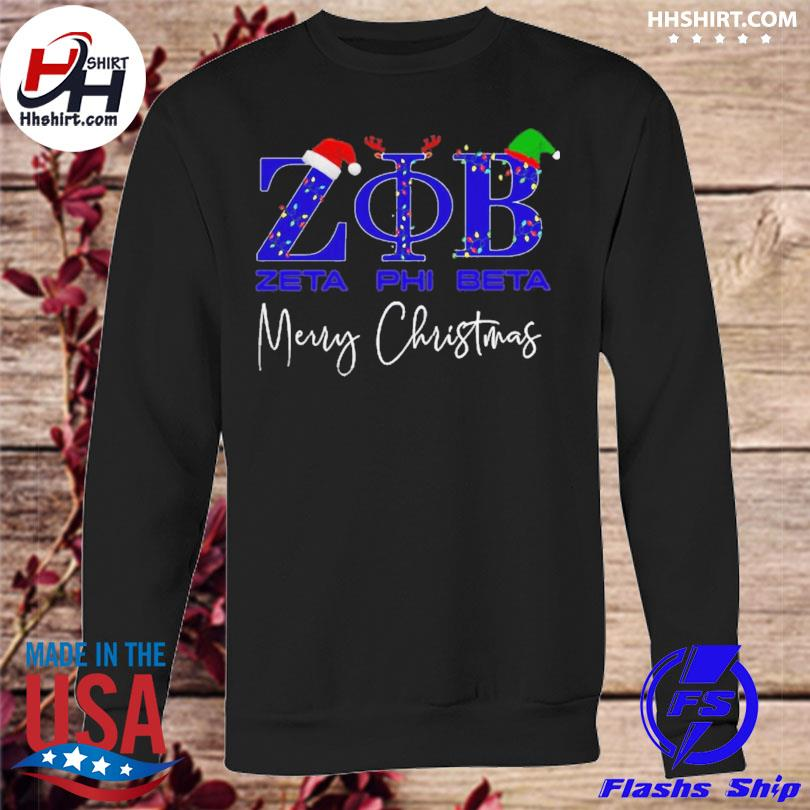 Zeta phi beta merry christmas sweater sweatshirt