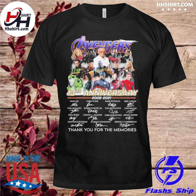 Avengers 13rd anniversary thank you for the memories signature shirt