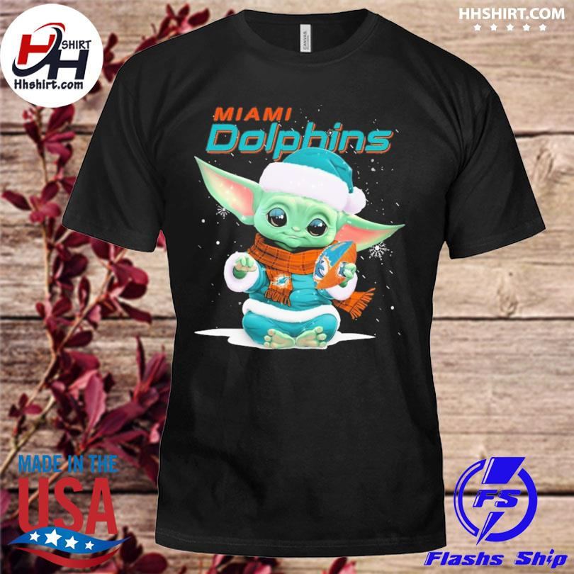 Baby Yoda Miami Dolphins Christmas sweater
