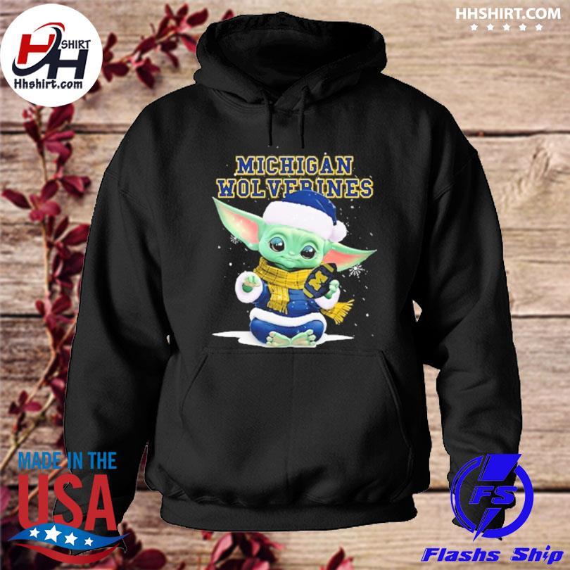 Baby Yoda Michigan Wolverines Christmas sweater hoodie
