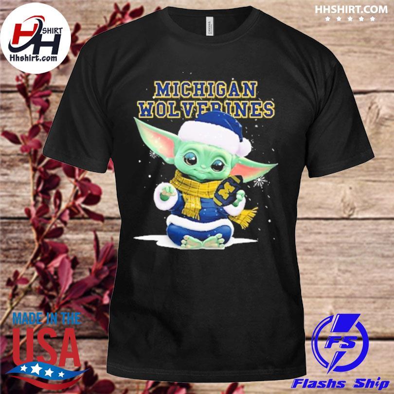 Baby Yoda Michigan Wolverines Christmas sweater