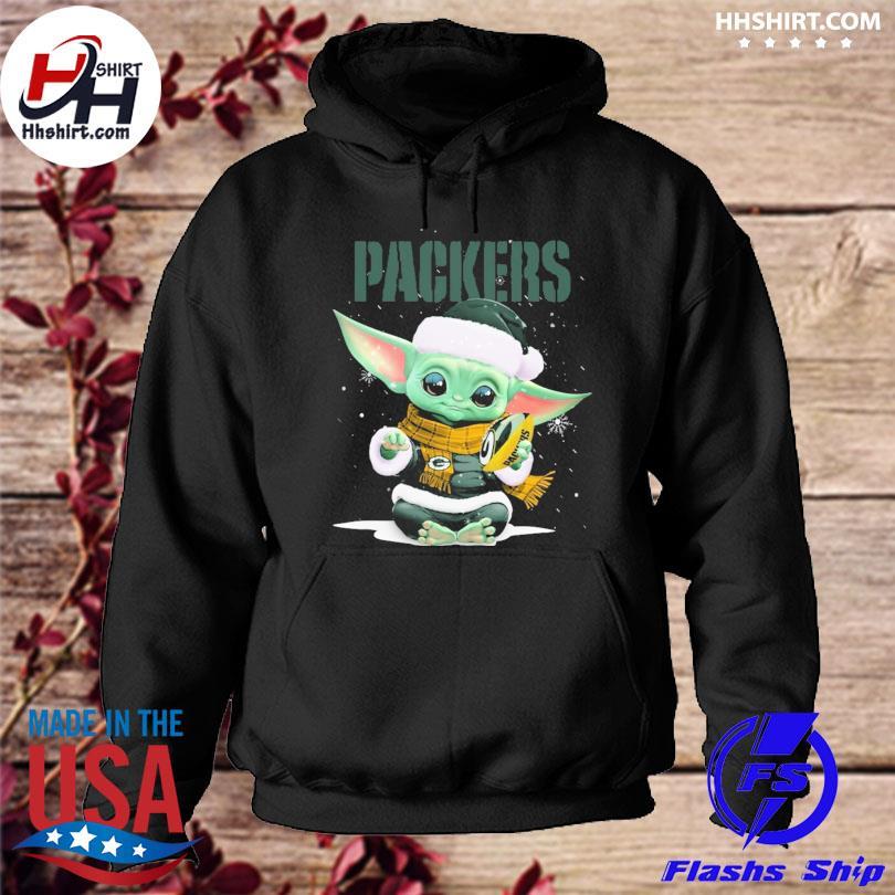 Baby Yoda Packers Christmas sweater hoodie
