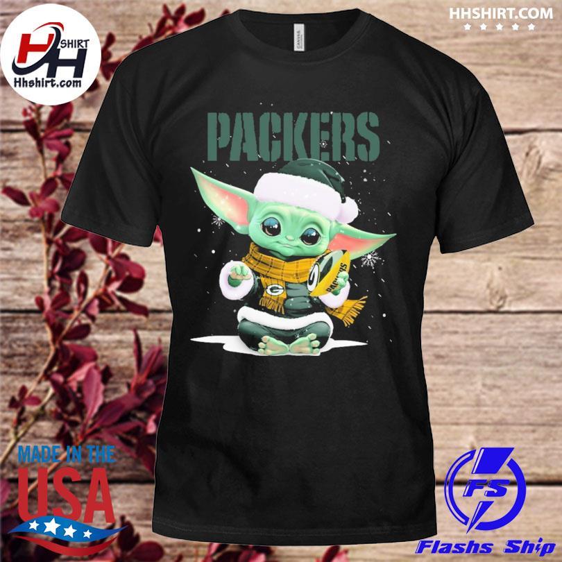 Baby Yoda Packers Christmas sweater