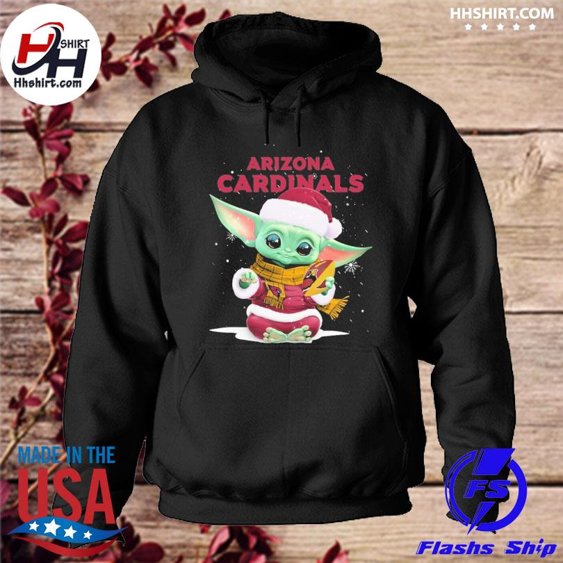 Baby Yoda Santa Arizona Cardinals Christmas sweater hoodie