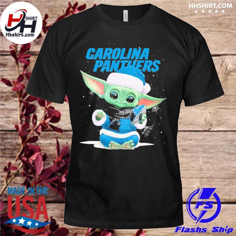 Baby Yoda Santa Carolina Panthers Christmas sweater