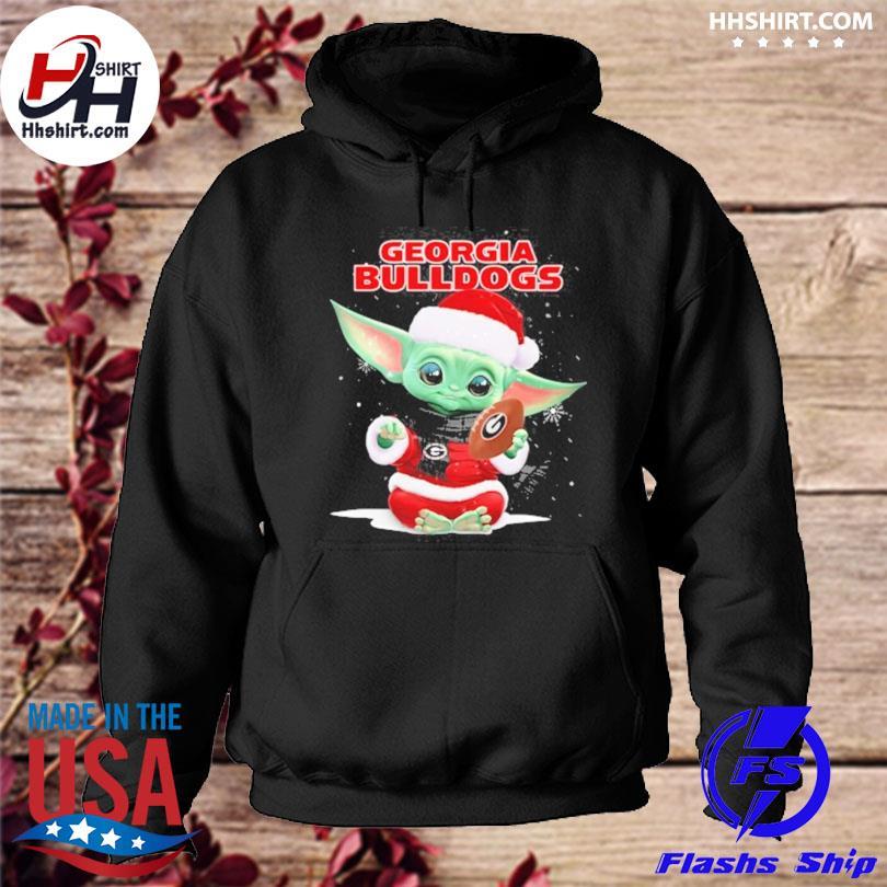 Baby Yoda Santa Georgia Bulldogs Christmas sweater hoodie