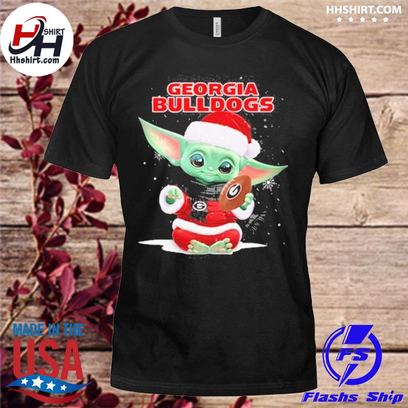 Baby Yoda Santa Georgia Bulldogs Christmas sweater