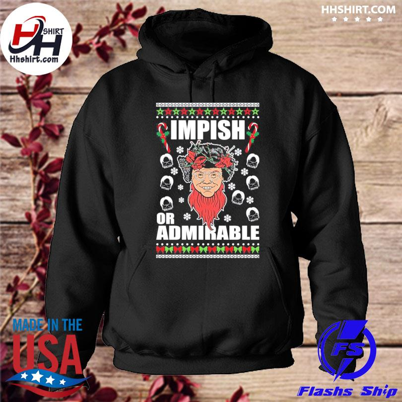 Belsnickel impish or admirable ugly christmas sweater hoodie