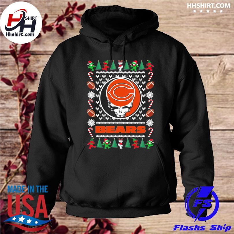Chicago bears grateful dead ugly christmas sweater hoodie