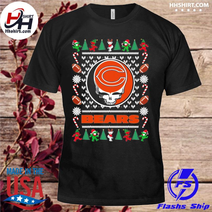 Chicago bears grateful dead ugly christmas sweater