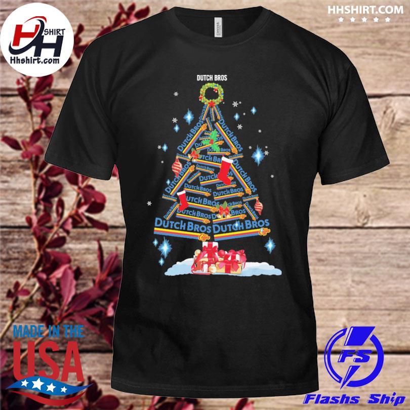 Drink Dutch Bros Coffee tree Christmas sweater