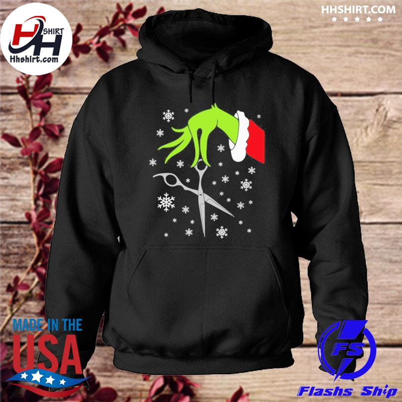 Grinch funny christmas hair stylist sweater hoodie