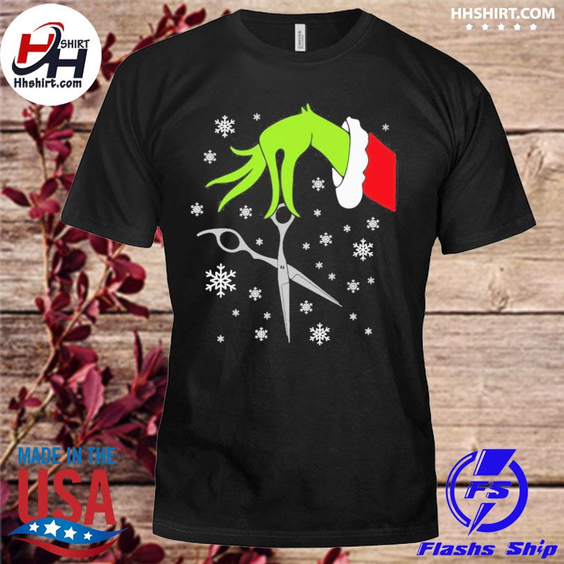 Grinch funny christmas hair stylist sweater