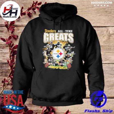 Official Pittsburgh Steelers All-time Greats signatures s hoodie