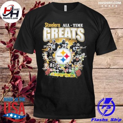 Official Pittsburgh Steelers All-time Greats signatures shirt