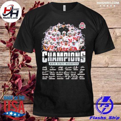 Ohio State Buckeyes 2020 Big Ten Football Champions signatures shirt