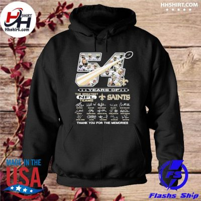 54 years of New Orleans Saints thank you for the memories signatures s hoodie