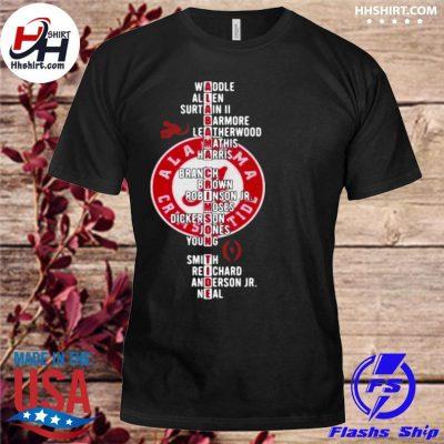 Alabama Crimson Tide Player Team Name shirt
