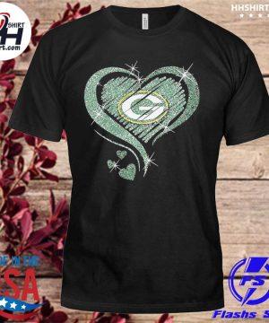 Green Bay Packers hearts shirt
