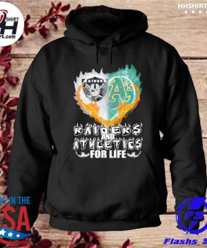 Heart Las Vegas Raiders and Oakland Athletics for life s hoodie