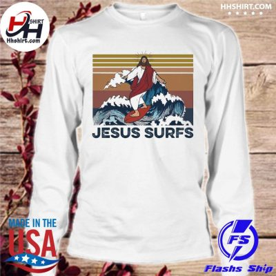 Jesus surfs vinatge s longsleeve